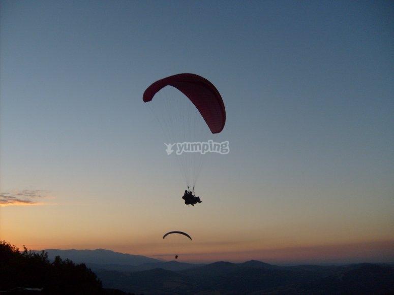 Tramonto e volare