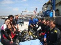 We start for diving