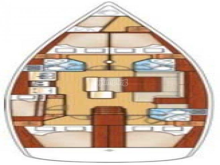 Oceanis 50 Family - plan