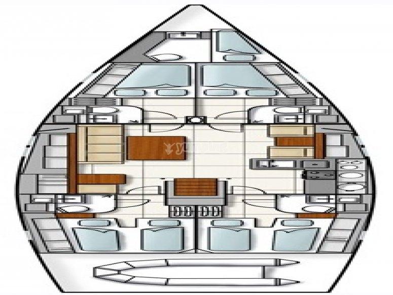 Hanse 540e - plan