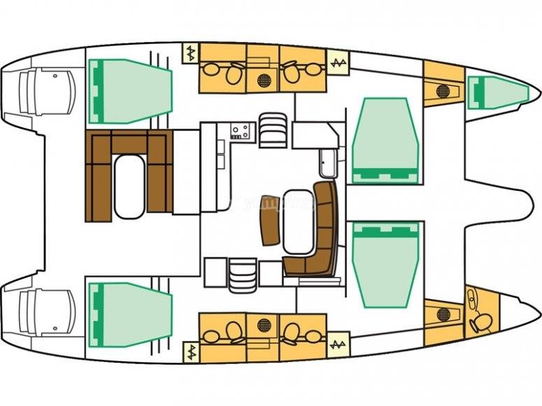 Lagoon 421 - plan