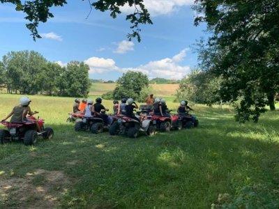 Tour in quad nel Monferrato con aperitivo 2 ore