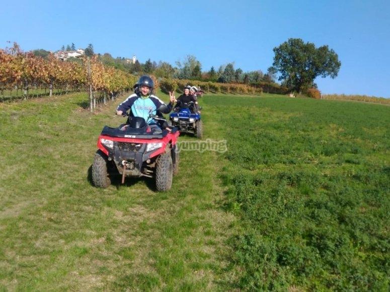 quad biking in the Monferrato vineyards