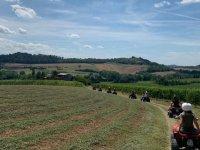 Tour in quad nel Monferrato con aperitivo di 3 ore