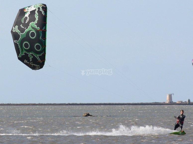 Manovrando il kite