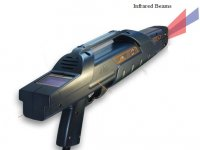 Un modello di pistola laser