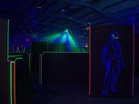 Silouette del campo laser camp