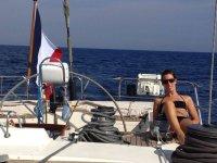 Prendendo il sole a bordo