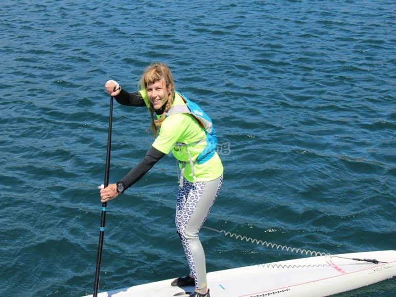 Una delle nostre allieve di Stand Up Paddle