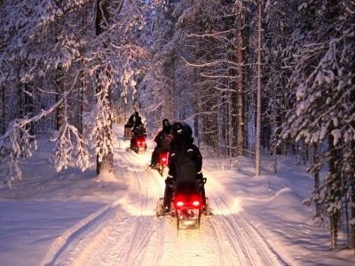Tour per 2 in motoslitta con cena Passo del Tonale