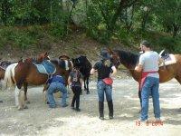 Trekking a cavallo di più giorni