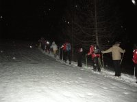 New Year's Eve in snowshoes