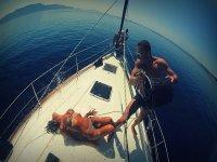 Fun in boat