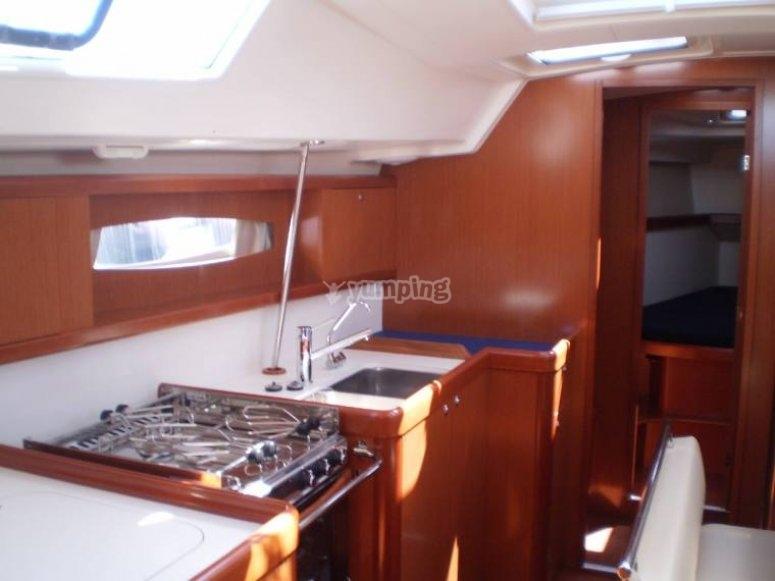 la cucina di bordo