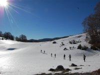 Percorsi escursionistici nella neve