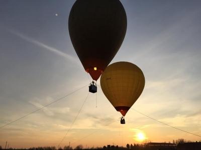 Volo romantico per due in mongolfiera, Lazio