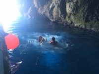 snorkeling in the cave