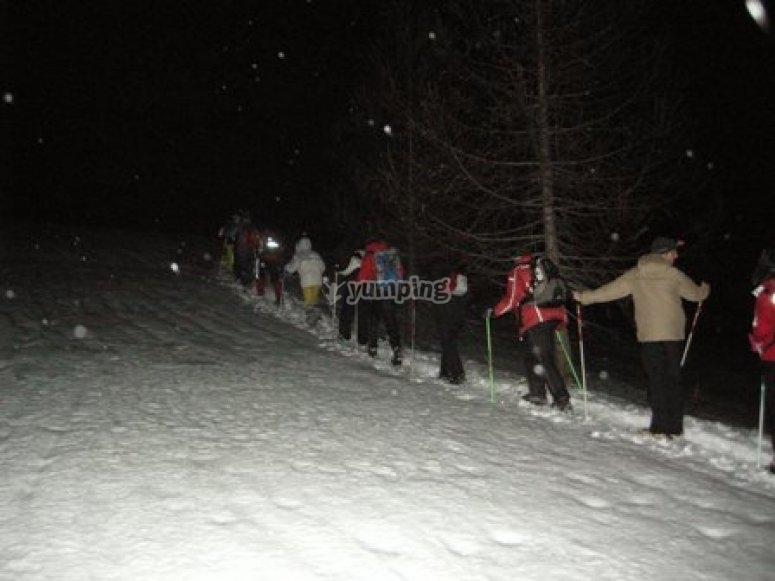 Nella notte in Valle Stretta