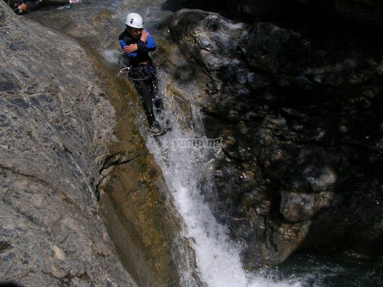 canyoning: toboggan