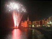 Fuochi d'artificio visti dalla barca