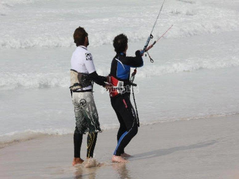 Lezioni kite in spiaggia