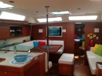 The interior of one of our boats