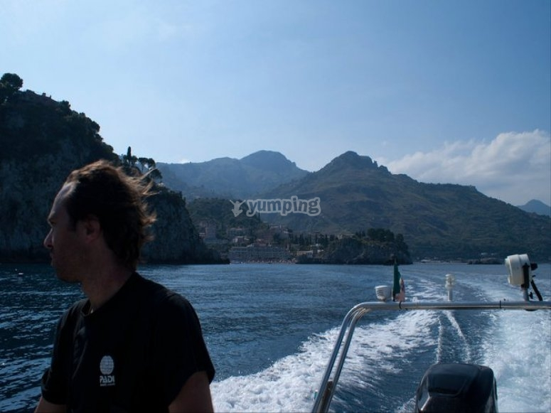 Verso i punti di immersione/way to dive point