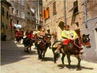 Passeggiata a cavallo nel Paese