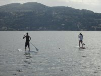 I paddle surf in acqua