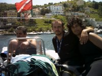 Leaving the Port of Agropoli
