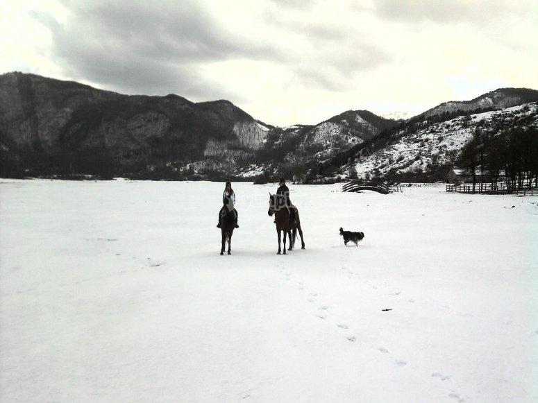 Romantica cavalcata in inverno