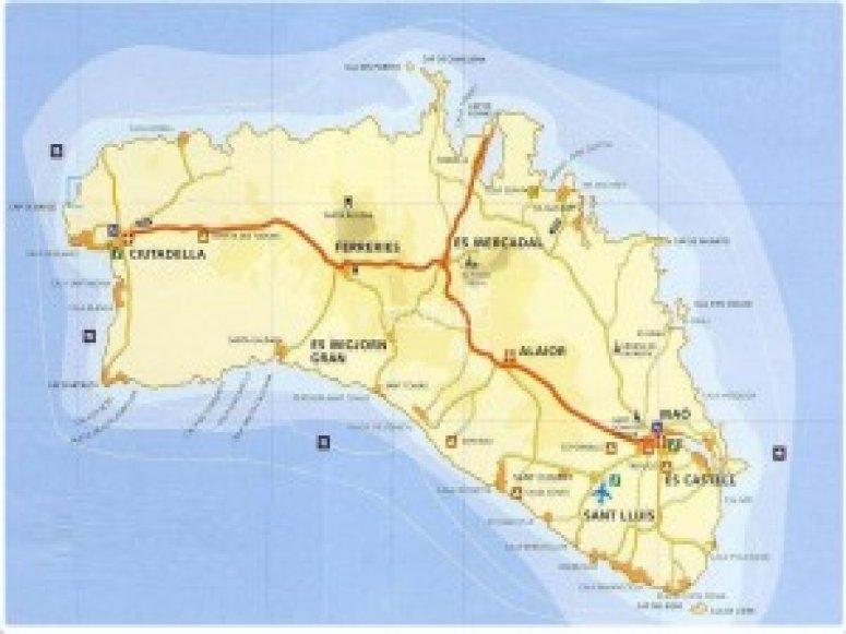 Mappa Minorca