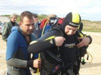 Con attrezzature diving