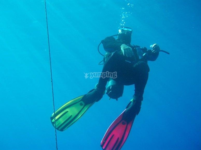 Immersione in mare