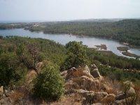 Panorama del lago di Sa Curcurica