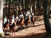 A cavallo nella provincia di L'Aquila