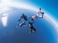 Parachuting in group