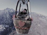 Volo romantico in mongolfiera
