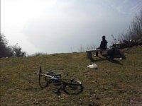 Escursione in mountain bike sul lago di Como