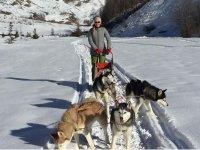 Escursione invernale con i cani da slitta