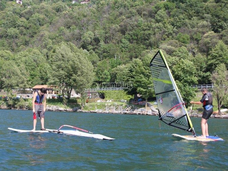 I nostri allievi sul windsurf