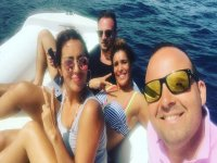 A selfie on board