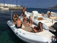 Tour in boat with gli amici