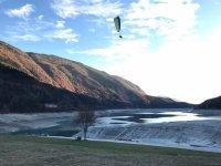 anche con il lago ghiacciato il volo è assicurato
