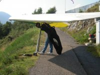 Deltaplano pronto al volo