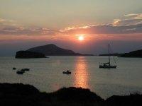 Un tramonto in barca