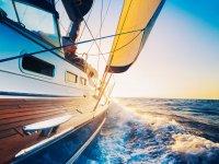 sailing and blue sea