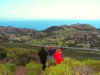 Trekking in wild landscapes