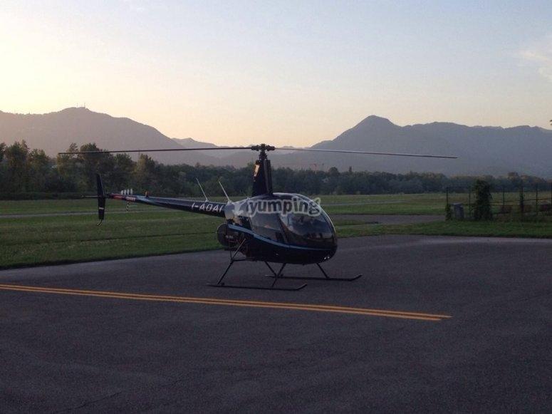 prima di partire con i nostri elicotteri
