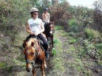 Passeggiata romantica a cavallo